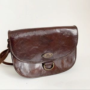 Vtg The Trend Mini Original Brown Crossbody Bag